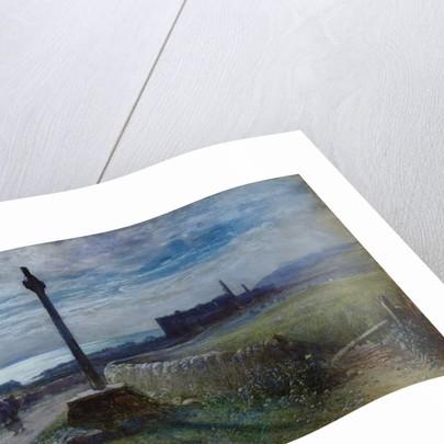 Traveler on a coastal path by John MacWhirter