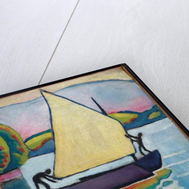 Segelboot am Morgen, 1910 by August Macke