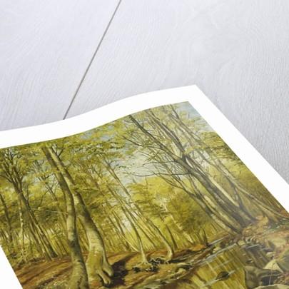 A Wooded River Landscape, 1892 by Peder Monsted