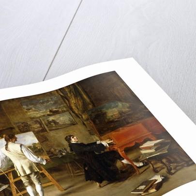 Pergolese in the Studio of Joseph Vernet, 1880 by Lucien Alphonse Gros