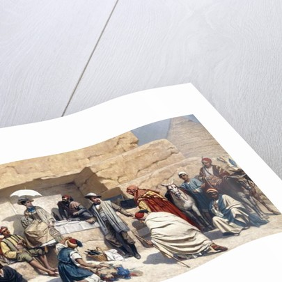 The Visit to the Pyramids in Gizeh, Egypt by Franz Vinck