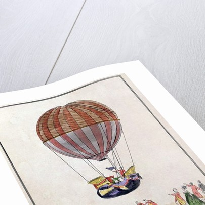 The Ascent of the Aerostat in the Jardin des Tuileries, 1st December, 1783 by French School
