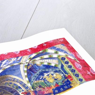 Set Design for La Pisanelle, Ou La Mort Parfumee by Leon Bakst