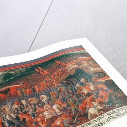 Battle of Kronenberg, Germany in c.1388 by German School