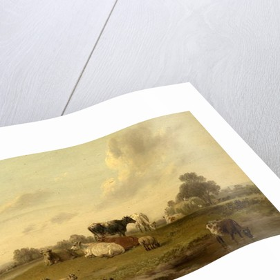 Landscape with Cattle and Sheep by Edmund Bristow