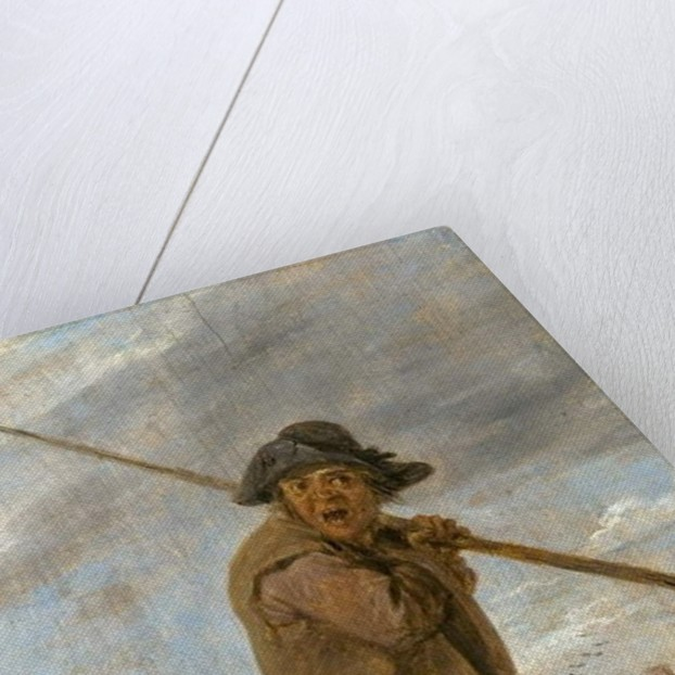 A Peasant Carrying a Pole by David the Younger Teniers