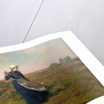 Girl Haymaking by Arthur John Black
