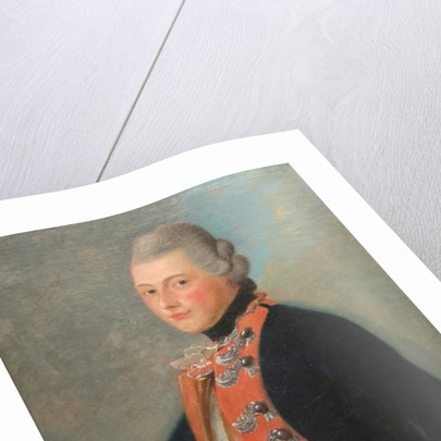 Officer of the Hessian Regiment Erb Prinz, 1776 by Unknown artist