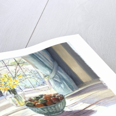 Fruit Bowl with Spring Flowers by Timothy Easton