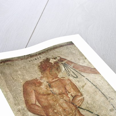 Detail of a Trojan prisoner by Etruscan
