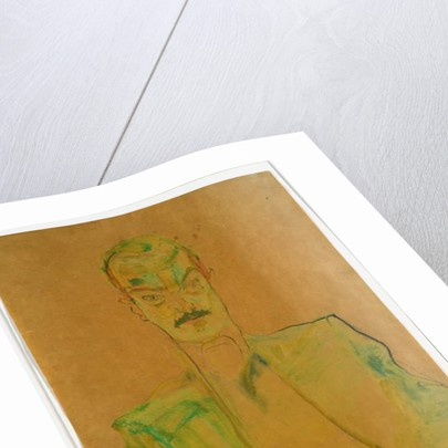 Nude on Coloured Fabric, 1911 by Egon Schiele