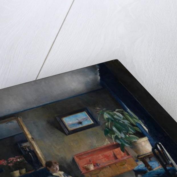 Blue Interior by Harriet Backer