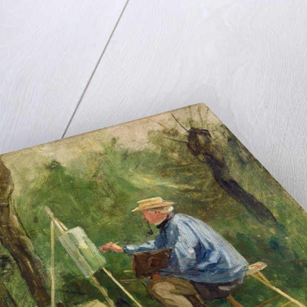 Corot at his Easel, Crecy-en-Brie, 1874 by Eugene Decan