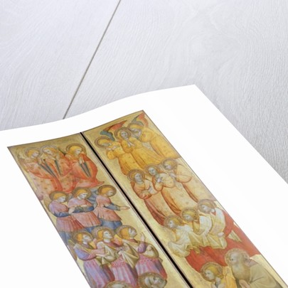 Left panel: St. Peter and St. Paul with Angels; Right panel: St. James and St. Andrew with Angels by Carlo da Camerino