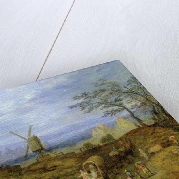 Landscape with Travellers near Windmills by Jan the Younger Brueghel