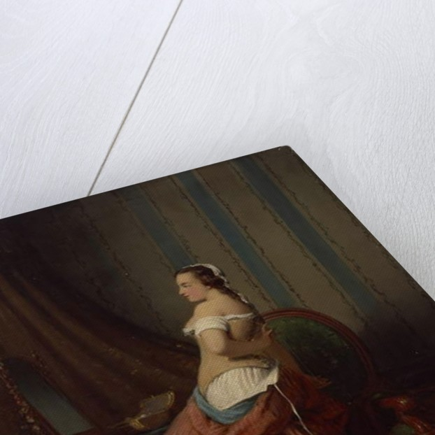 The Appeal of a Slender Waist, 1859 by Josef Resch