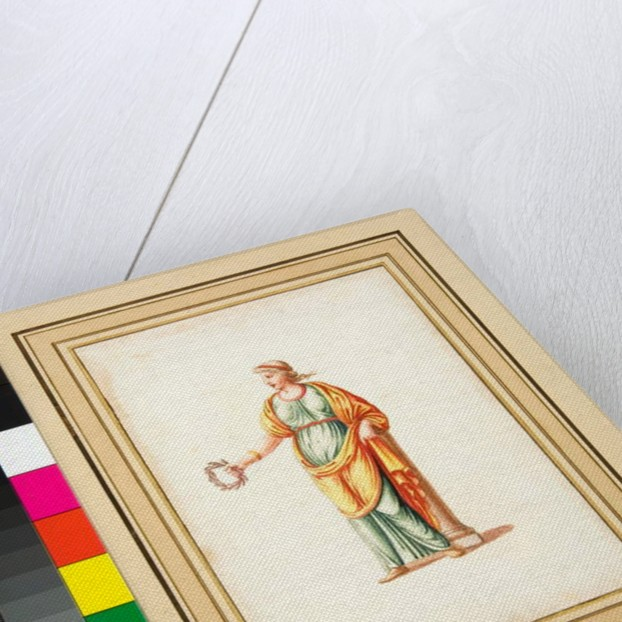 Female figure turned to spectator's left by Pietro Santi Bartoli