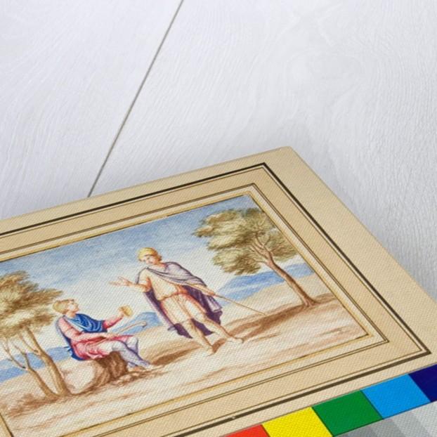 Two men in Phrygain Caps by Pietro Santi Bartoli