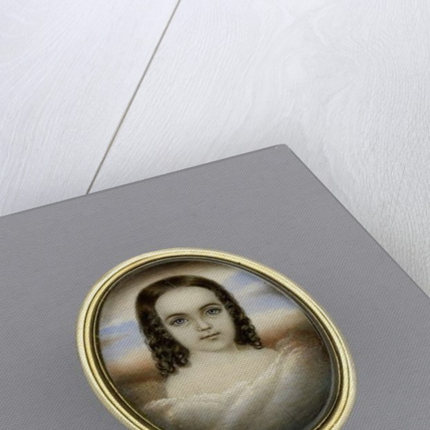 Portrait of a Girl, c.1852 by Clarissa Peters