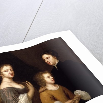 Self Portrait with husband, Charles and son, Bartholomew, c.1659-60 by Mary Beale