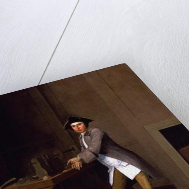 Man Working Lathe by Arthur Devis