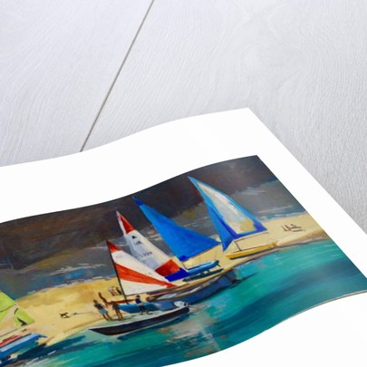 Salcombe Smalls Cove Dinghies by Jennifer Wright