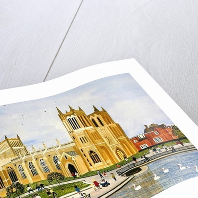 Bristol Cathedral and College Green by Judy Joel