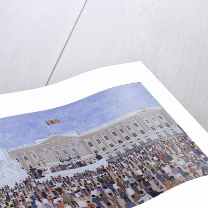 Crowds around the Palace by Judy Joel