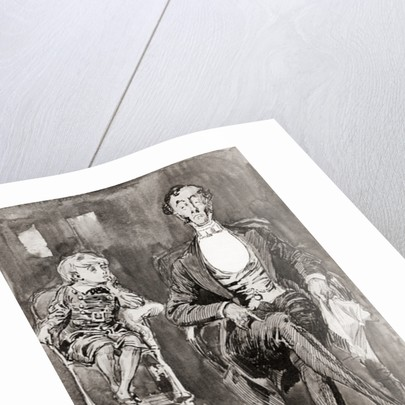 Illustration by Harry Furniss for the Charles Dickens novel Dombey and Son by Anonymous