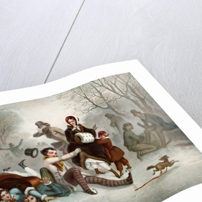 Outdoor ice skating in the 19th century by Anonymous