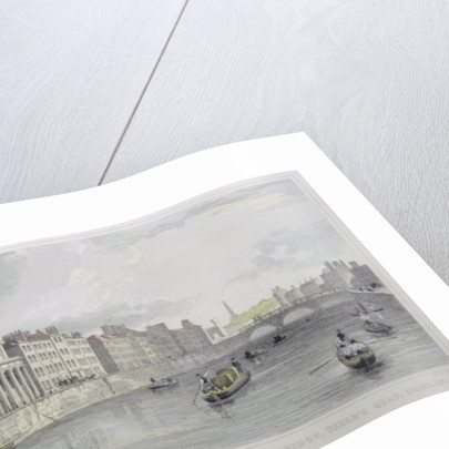 Cloth Mart, Home's Hotel and Queen's Bridge, Usher's Quay, Dublin by Irish School