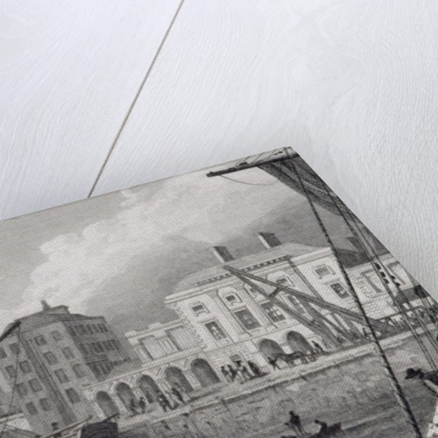 The Custom House, Limerick, Ireland in the 1830s by William Henry Bartlett