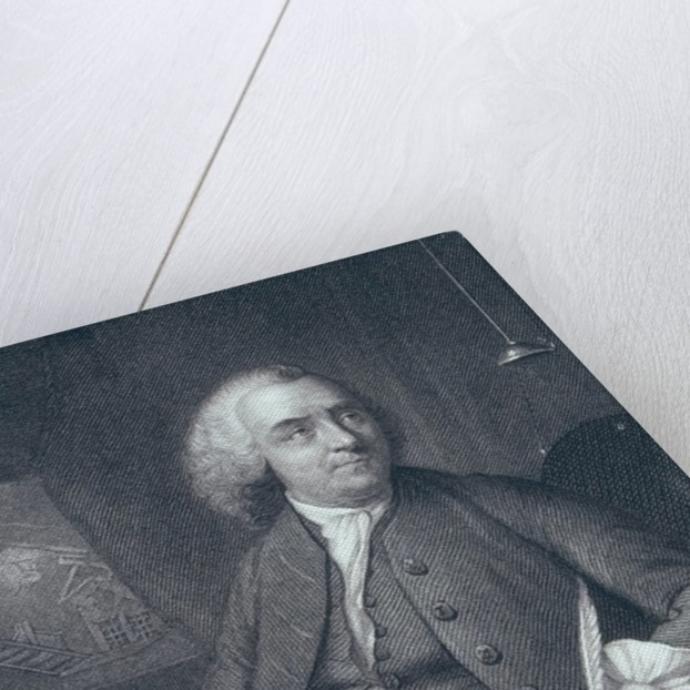 Portrait of Benjamin Franklin, engraved by Edward Fisher by Mason Chamberlin