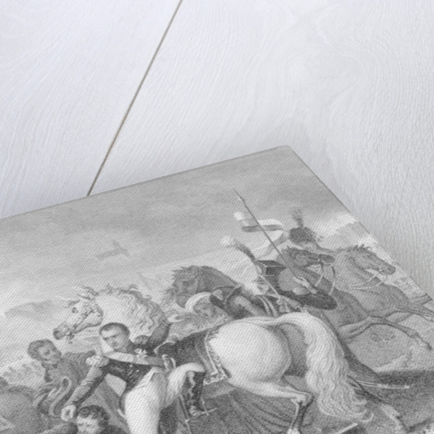 Napoleon wounded in the attack on Ratisbon (Regensburg), Bavaria in 1809 by English School