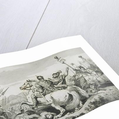 Theodoric is Slain in Battle Against Attila, near Chalons by French School