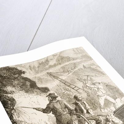 Silver Mining Operation, Nevada, c.1870 by English School