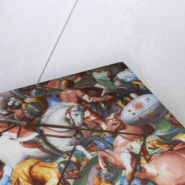 Battle scene, detail from the frescoes in the Hall of Battles by Unknown