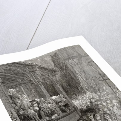 The Children's Crusade in 1212, illustration from 'Bibliotheque des Croisades' by J-F. Michaud by Gustave Dore