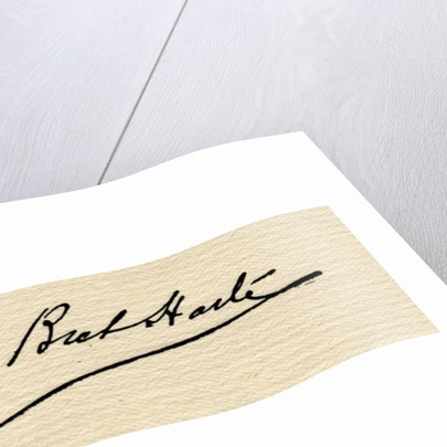 Signature of Francis Bret Harte by American School