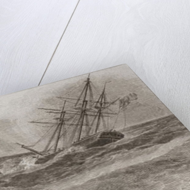 Life boat rowing to the rescue of a foundering sailing ship by William Anderson