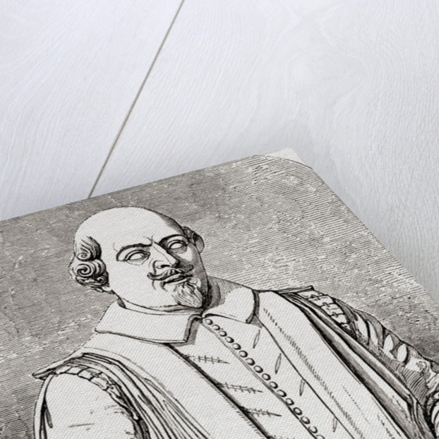 William Shakespeare, after the bust from the tomb at Stratford by English School