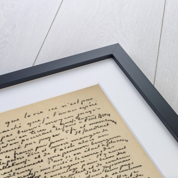 Fascimile of a letter from Vincent Van Gogh to Emile Bernard on the 18th March 1888 by Vincent van Gogh