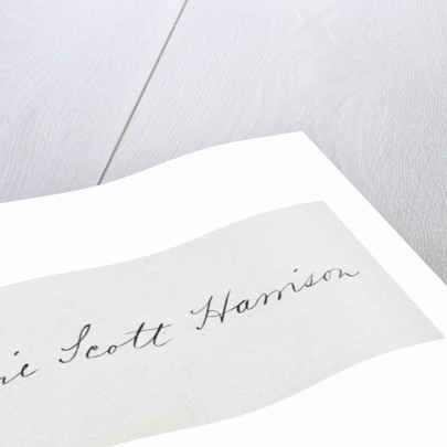 Signature of Caroline Lavinia Scott Harrison by American School