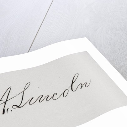 Signature of Abraham Lincoln by American School
