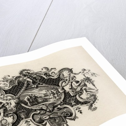 Impression from a silver tankard by William Hogarth