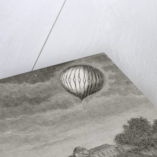 Ascent of Charles's balloon over the Champs de Mars by French School