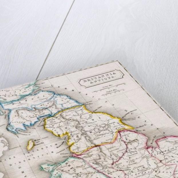 Map of England, Britannia Antiqua by English School