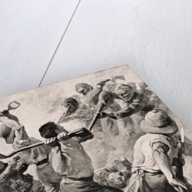 Turkish and British Soldiers in hand to hand combat on the Gallipoli Peninsula Turkey 1915 by English School