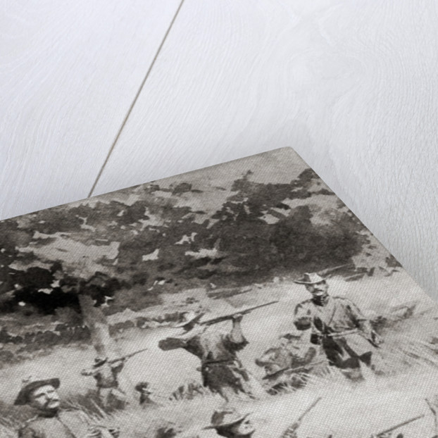 Capron's battery in action at The Battle of Las Guasimas, Cuba, June 24, 1898, the first land engagement of the Spanish–-American War by Anonymous