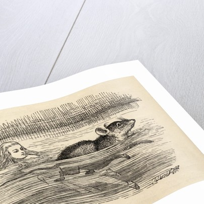 Alice swimming with a mouse in the pool of tears by John Tenniel